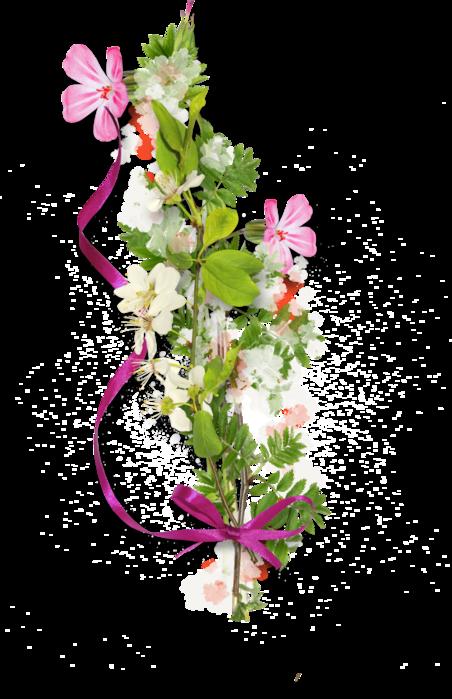 Распакованные скрап наборы цветочные