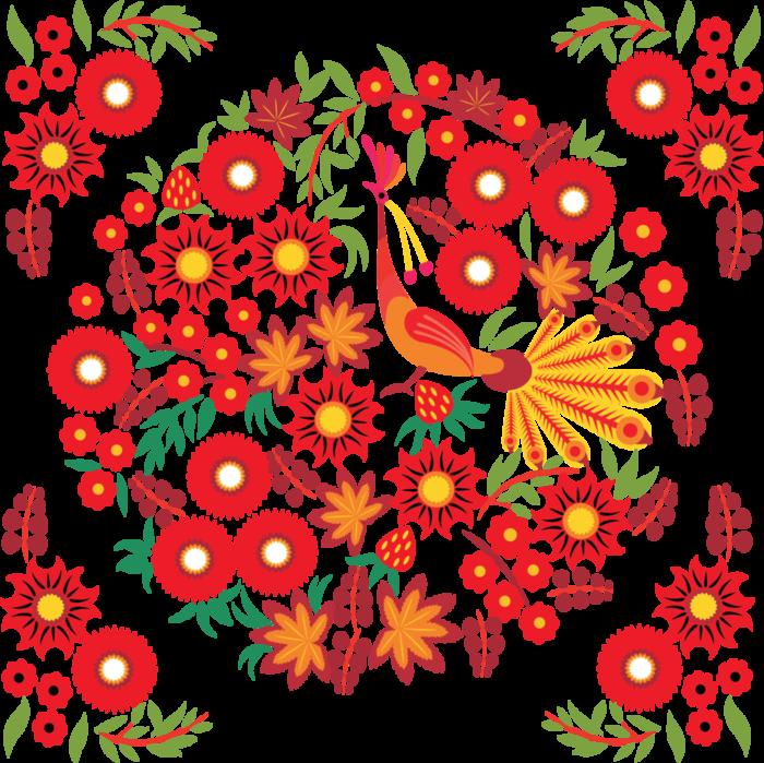 Орнамент вектор хохлома