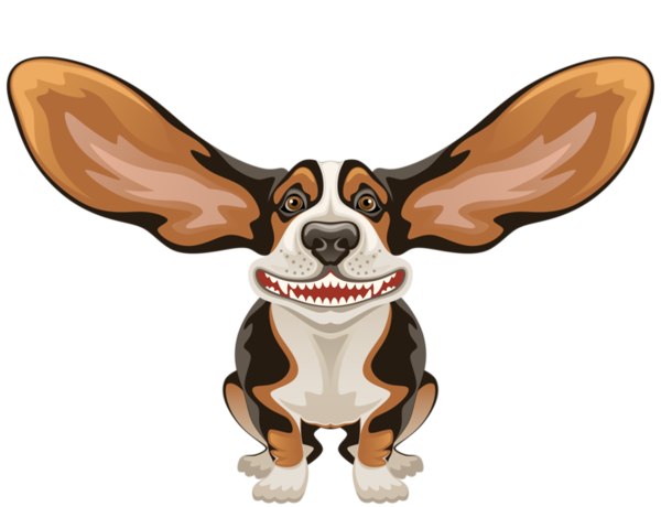 Dog With Big Ears Cartoon